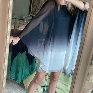 Draped Gradient Dress